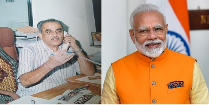 PM Modi and Mukund Kulkar