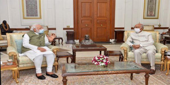 पंतप्रधान मोदींनी घेतली राष्ट्रपतींची भेट ; उपराष्ट्रपतींचे महत्वपूर्ण ट्विट