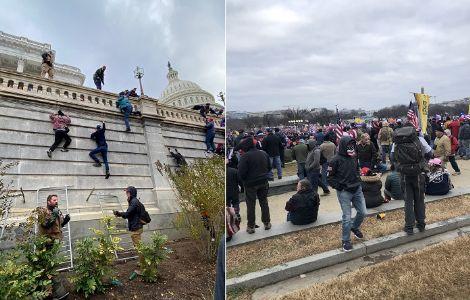 अमेरिकेच्या संसदेवर हल्ला ! मोठा हिंसाचार : राजधानीत कर्फ्यू